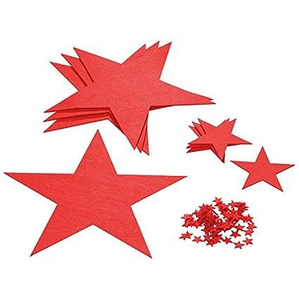 Estrellas De Navidad Para Decorar.Juego De Estrellas De Fieltro Rojo Ideales Para Decorar La