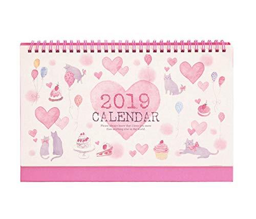 2018-2019 Desk Calendar Flip Monthly Calendar, November 2018 - December 2019, 10.2