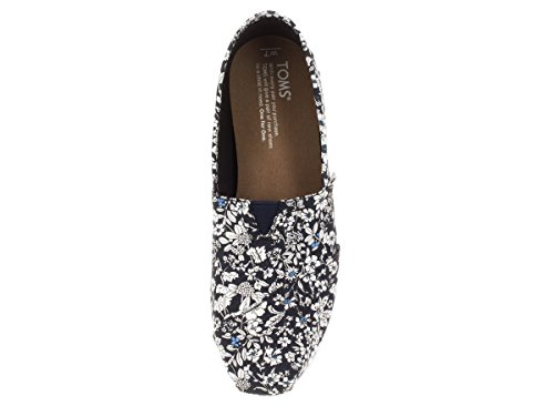 mujer 1019B09R Rope color Sole talla Navy negro Floral Zapatos 38 Toms para 5 wXZx4qqf