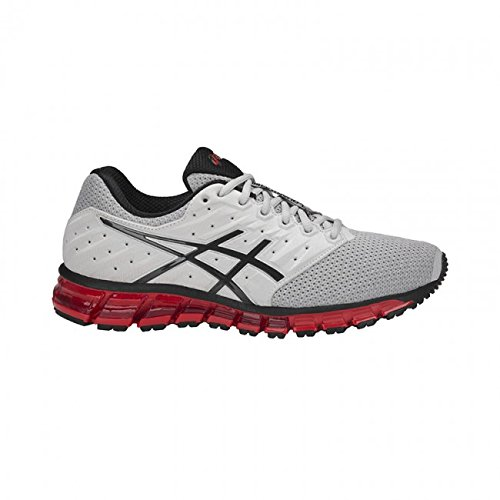 Asics Scarpe Running Uomo - GEL QUANTUM 180 2 MX - T837N-9616 - GLACIER GREY/PHANTOM/FIERY RED-40.5