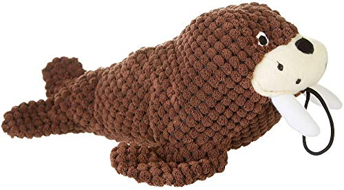 Patchwork Pet Walrus Dog Toy, Brown -
