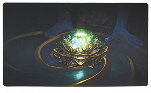 Inked Playmats Masterpiece Black Lotus Card Playmat - Inked Gaming Perfect for MtG Pokemon Hearthstone & YuGiOh Magic the Gathering TCG Game Mat by Inked Playmats
