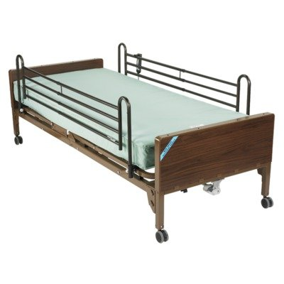 Drive Medical Delta Ultra Light Semi Electric Bed Therapeutic Support Mattress, Full Rails