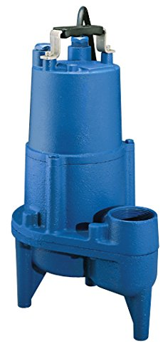 (Barnes SEV412 Submersible Cast Iron Sewage Pump - 1/2-HP, 4,260 GPH, 20' Cord, Manual For Sewage)