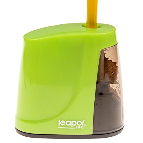 Best Electric Pencil Sharpener - Battery Operated - For Home, Office, Kids, Teachers - Green