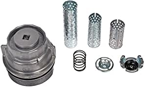 APDTY 028127 Oil Filter Aluminum Cap Housing With Tube Assortment Fits Toyota/Lexus/Scion (Cartridge Type; Upgraded Aluminum Design; View Compatibility Chart For Your Specific Model)