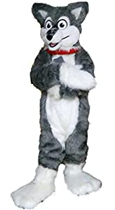 Grey Wolf Mascot Costume Cartoom Character Adult Sz Real Picture Langteng(TM)