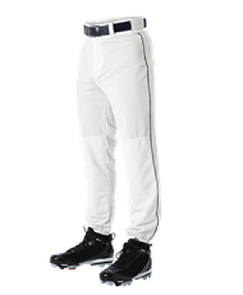 Alleson Athletic PANTS ボーイズ B071KF2MND Small White, Dark Green White, Dark Green Small