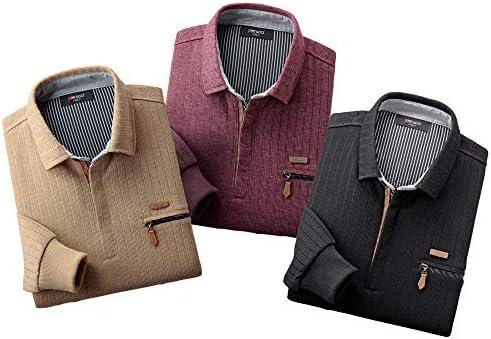 〈シンジア・ピエルッチ〉 ジップアップニットシャツ(3色組) 【メンズ トレーナー セーター ポロシャツ 長袖】
