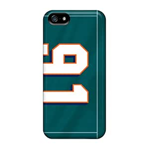Iphone 5/5s QPB4466ZVxt Unique Design Nice Miami Dolphins Image Excellent Cell-phone Hard Covers -MansourMurray