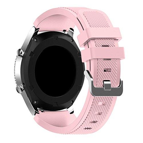 Samsung Gear s3クラシック交換用時計バンド、ruoruowu International新しいファッションスポーツシリコンブレスレットストラップバンドSamsung Gear s3クラシック(ホワイト)  ピンク B074RGMQF3