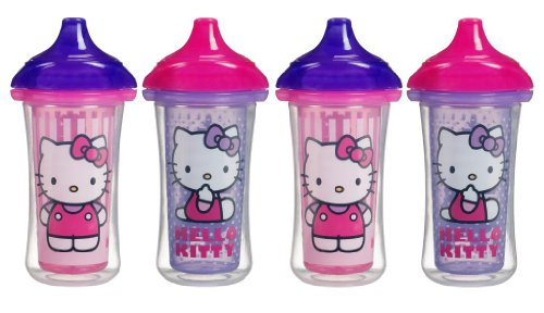 Munchkin Hello Kitty Click Lock Insulated 9 Ounce Sippy Cup, 4 Pack