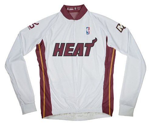 buy popular b2d0f f76ef NBA Miami Heat Men's Long Sleeve Cycling Jersey