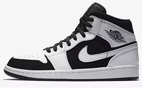- Jordan Men's Air Retro 1 Basketball Shoe, White/Black-White, 11.5