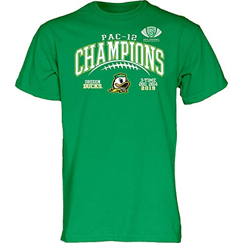 Elite Fan Shop Oregon Ducks Pac-12 Champs Tshirt 2019 Laces – Large – Green