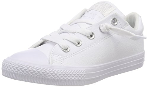 - Converse Boys' Chuck Taylor All Star Street Slip On Low Top Sneaker, White, 7 M US Toddler
