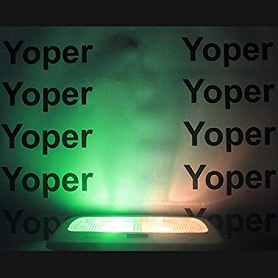 Yoper BA9S 53 57 1895 64111 LED Light Bulb for Car 12V Green: Automotive