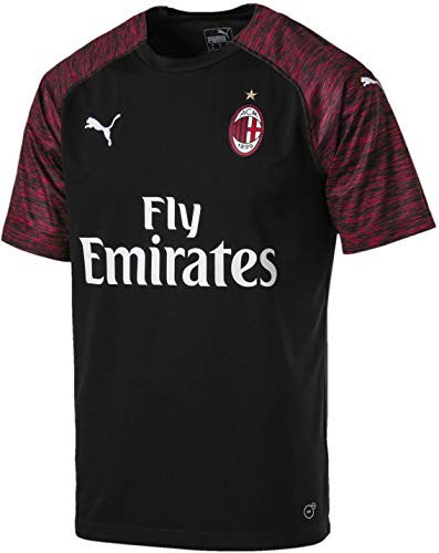 PUMA Men's AC Milan Third Shirt Replica SS with Sponsor Shirt, puma White/Chili Pepper, XL