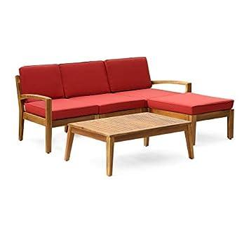 Amazon.com: Juego de sofá de 5 piezas de 3 plazas, incluye ...