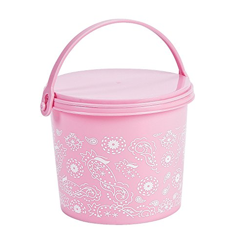 Birthday Girl Pink Cowgirl Bandana Party Favor Bag Bin Storage Organization Buckets Pails Baskets, 12 Pack by Fun Express