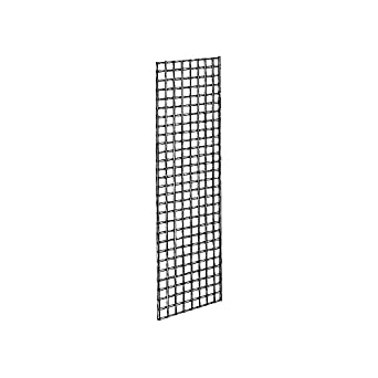 Econoco Commercial Grid Panels, 2' Width x 6' Height, Black (Pack of 3)