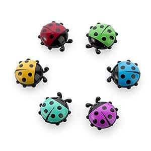 HULISEN Mini Refrigerator Magnets 6Pcs Ladybug Insect Shape, Fridge Magnets, with Magnet for DIY Decoration