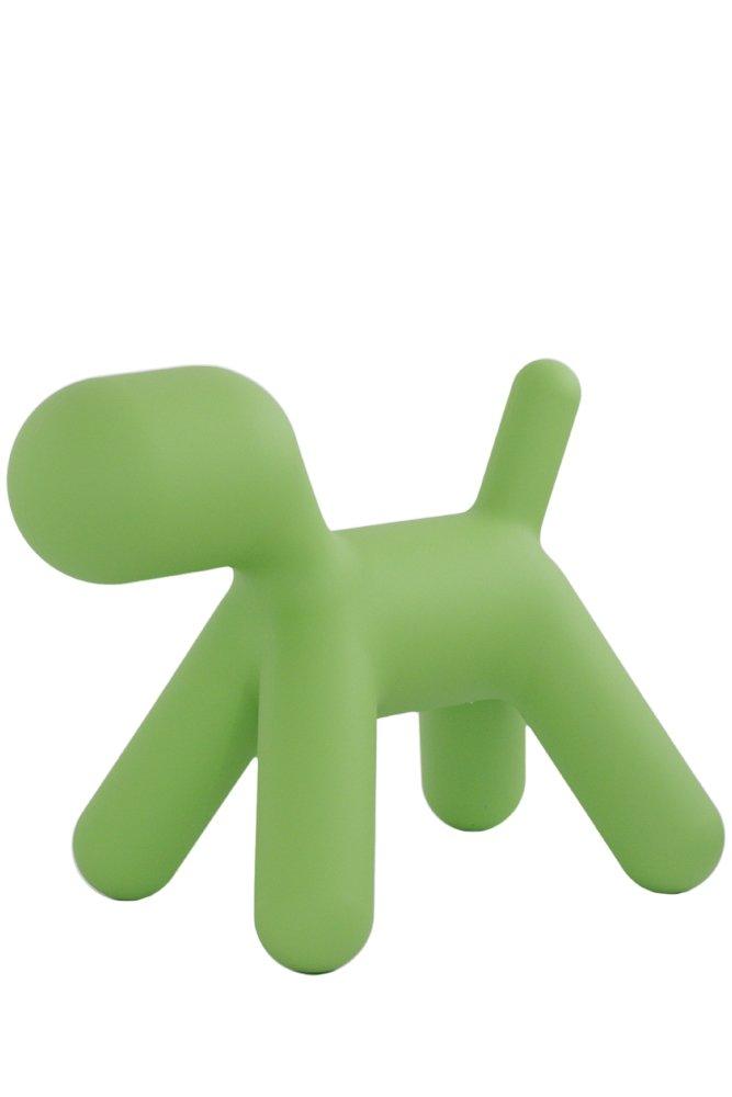 Puppy L - Chien vert-matière plastique-Taille 3-LxPxH 69 -5x42x56 -5cm