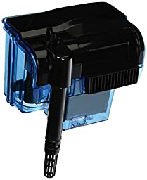 Penn Plax Cascade Hang-on Aquarium Filter With Quad Filtration System Cleans Up to 55 Gallon Tank