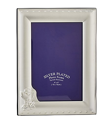Communion Frame (First Communion Chalice Silver Tone Picture Frame, 4 x 6 Inch)