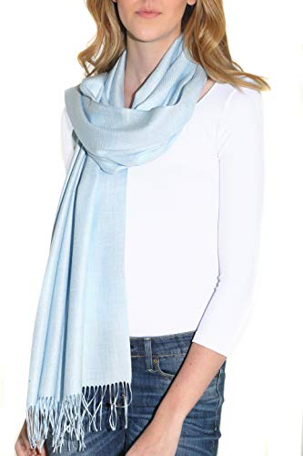 - Pure Cashmere Blend Pashmina Wrap for Women - Fashion Shawl with Fringe (28 x 74 inches)