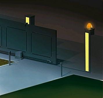 25 Metri Giallo DOBO/® Nastro Adesivo Riflettente rifrangente Catarifrangente riflette la Luce Diretta Ottimo per Segnalazione Camion Auto cancelli e Bordi rigidi
