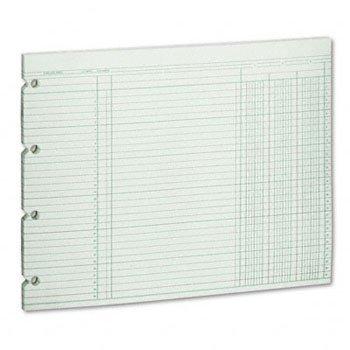 Wilson Jones® Columnar Loose Sheets SHEET,3COL,9.25X11.88,GN (Pack of3)