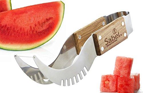 Tuk789 VIP Premium Wood Japanese Style Watermelon Melon Cutter Slicer Corer Server Knife
