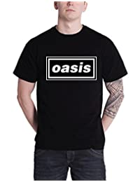 Oasis T Shirt Band Logo Definitely Maybe Album Official Mens New Black