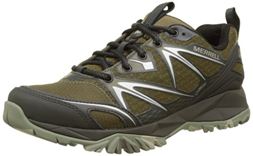 Amazon.com | Merrell Capra Bolt GTX Gore-Tex Waterproof All Terrain Mens Green | Shoes