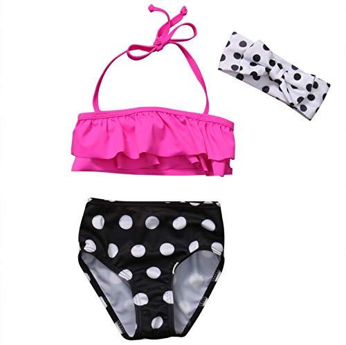 private-space-Aurelie Swimsuits Baby Girl Swimsuit Polka Dots Bikini Set Kids Girls Bathing Suit Swimwear Swimming,Multi,1 to 2 Years