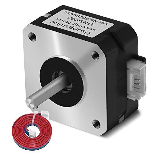 Usongshine Nema 17 Stepper Motor Bipolar Step Motor for Titan Extruder 3D Printer 4.1V 1A 13Ncm (18.4oz.in) 4 Lead 1.8 Deg with 1m Cable (17HS4023)