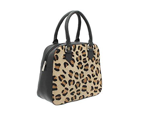 Pelle mala Matrah Animal Collection stampa della pelle Grab Bag 7102_90 Zebra Black