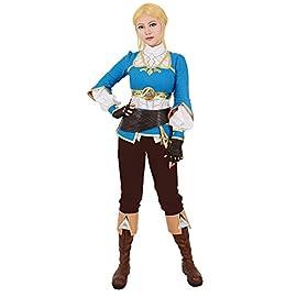 Miccostumes Women's Zelda Breath Wild Princess Zelda Cosplay Costume