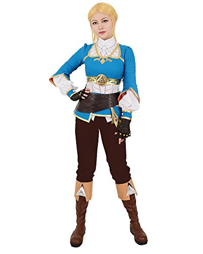 Miccostumes Women's Zelda Breath Wild Princess Zelda Cosplay Costume (Women m)