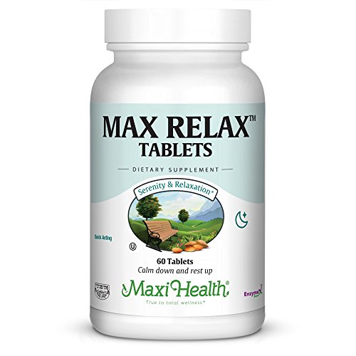Maxi Health Max Relax - Stress Buster - Quick Acting - Non Addictive - 60 Tablets - Kosher