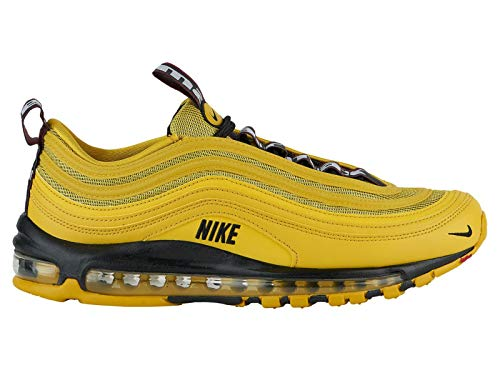 Nike Men's Air Max '97 Bright Citron/Black/Black Leather Casual Shoes 10 M -
