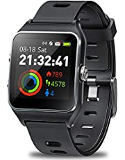$59 » DR.VIVA GPS Watch for Men Women, Activity Tracker GPS Running Watch Touch Screen Smart Watch Heart Rate/Sleep/Step/Counter Monitor Sports Watch with 17 Sport Mode
