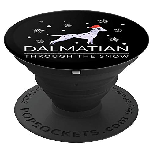 (Christmas Dalmation Through the Snow - PopSockets Grip and Stand for Phones and)