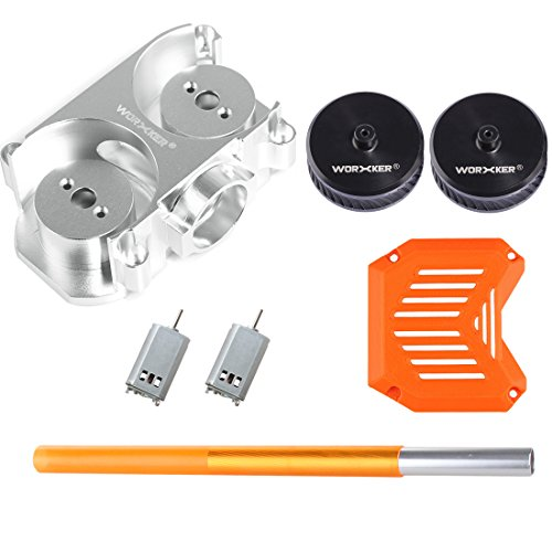FenglinTech Worker Flat Flywheel Cage and Oblique Line Flywheel Wheel Kit for Nerf stryfe - Precision (Tail Rotor Rod)
