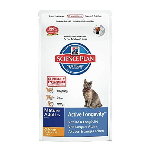 Hills Feline Mature Adult Cat 7+ Active Longevity mit Huhn 300g Katzenfutter