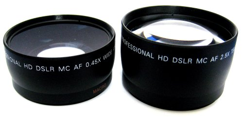 Zeikos ZE-58K 2.5X Telephoto and 0.45X Super Wide Angle h...