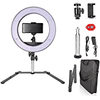 Emart 14 inch Bi-color LED Tabletop Ring Light Kit, Ultra Thin Innovation, 40W Dimmable & Color Temperature Adjustable Circle Makeup Lighting Kit for Photo Video Studio Portrait Shooting