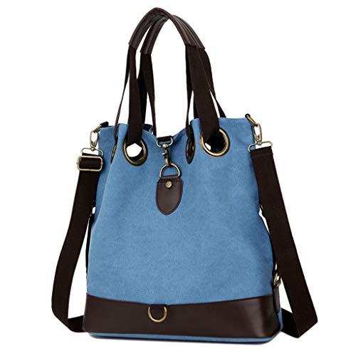 décontracté imperméable portable Lxf20 femme bandoulière en Sac Sac en capacité toile pour à Blue à pour portatif bandoulière grande qSgFTtS