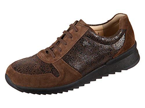 Comfort Piel para de de marrón Mujer Zapatos Cordones Marrón Finn OdxCqwURvw